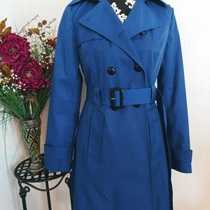 NWT EXPRESS 💙 cobalt beblue trench coat